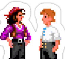 Monkey Island Plunder Bunny Retro Pixel DOS game fan shirt Sticker