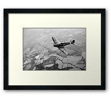 Spitfire victory black and white version Framed Print