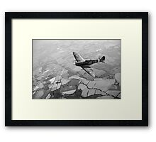 Spitfire victory black and white version Framed Print