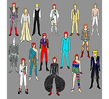 Bowie Scattered Fashion on Gray Photographic Print