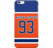 Oilers Ryan Nugent-Hopkins Orange Alternate Jersey iPhone Case/Skin