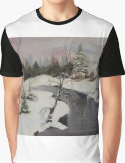 Frosty Landscapes Graphic T-Shirt