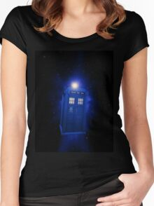 Doctor Who - 8th Doctor Titles Inspired Women's Fitted Scoop T-Shirt