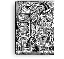 Mister Squiggles Canvas Print
