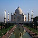 The Taj Mahal, Iconic View. by John Dalkin