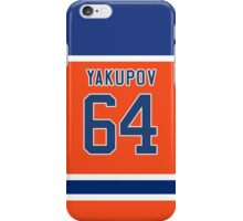 Oilers Nail Yakupov Orange Alternate Jersey iPhone Case/Skin