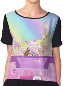 Magical Crane Machine Chiffon Top
