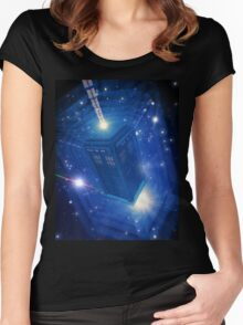 Doctor Who - 5th Doctor Titles Inspired Women's Fitted Scoop T-Shirt