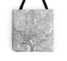 Washington Map Line Tote Bag