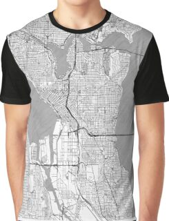 Seattle Map Line Graphic T-Shirt