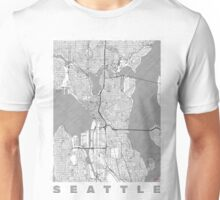 Seattle Map Line Unisex T-Shirt