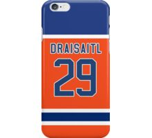 Oilers Leon Draisaitl Orange Alternate Jersey iPhone Case/Skin