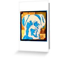 Blue Boxer Greeting Card
