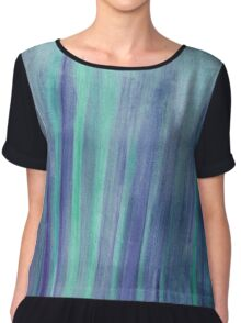 Watercolor Texture & Strokes Chiffon Top