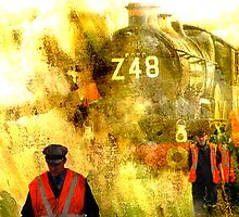 Steam Loco 'Nunney Castle' taking on water by dmacwill