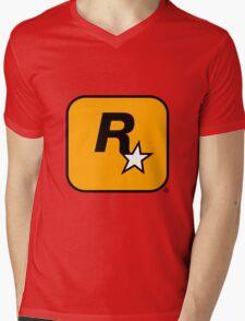 Rockstar Games logo Mens V-Neck T-Shirt