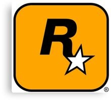 Rockstar Games logo Canvas Print