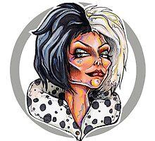 Lady of the Dark – Cruella by Sam Pea