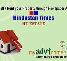 Book Property Ad in Newspaper by myadvtcorner