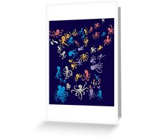 octopuses party 2 Greeting Card