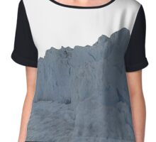 1980's Reconstructed Glacier Data Chiffon Top