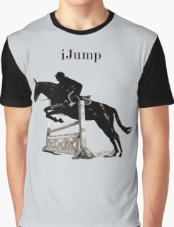 Cute iJump Equestrian Horse T-Shirt and Hoodies Graphic T-Shirt