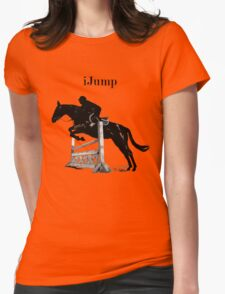 Cute iJump Equestrian Horse T-Shirt and Hoodies Womens Fitted T-Shirt