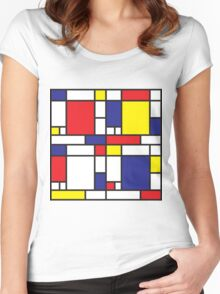 Mondrian Study I Women's Fitted Scoop T-Shirt
