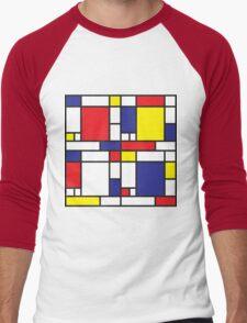 Mondrian Study I Men's Baseball ¾ T-Shirt