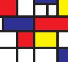 Mondrian Study I Sticker