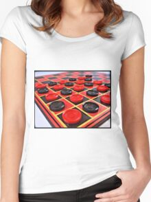 Checkers Women's Fitted Scoop T-Shirt