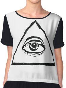 The All-Seeing Eye Of The Illuminati Chiffon Top