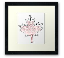 Only in Canada Framed Print
