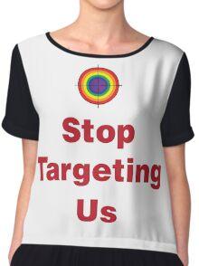 Stop Targeting Us Stacked Chiffon Top