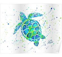Sea Turtle by Jan Marvin Poster