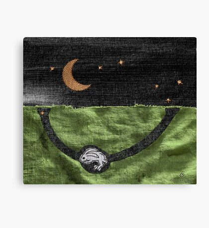 Rabbit and its Moon Canvas Print