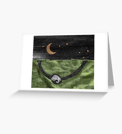 Rabbit and its Moon Greeting Card