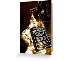 Whiskey too boot Greeting Card