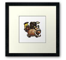 Pixel Roadhog Framed Print