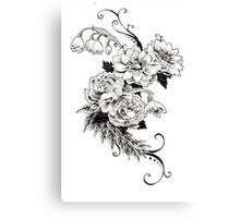 Flowers_sketch Canvas Print
