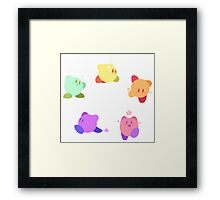 Rainbow Kirbys Framed Print