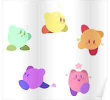 Rainbow Kirbys Poster