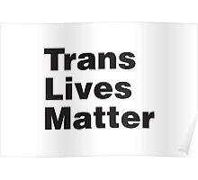 Trans Lives Matter Poster