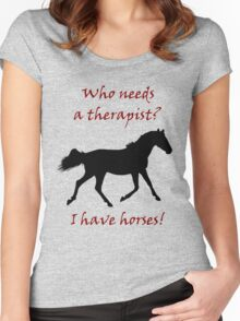 Therapy & Horse T-Shirt & Hoodies Women's Fitted Scoop T-Shirt