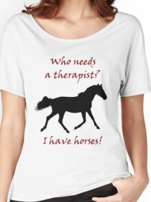 Therapy & Horse T-Shirt & Hoodies Women's Relaxed Fit T-Shirt