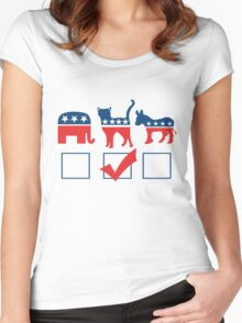 I'm voting for CATS Women's Fitted Scoop T-Shirt