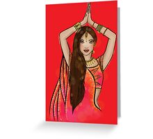 Bollywood Boogie Greeting Card