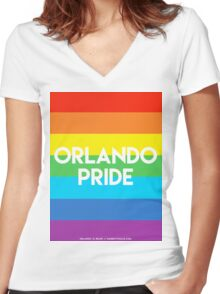 ORLANDO PRIDE Women's Fitted V-Neck T-Shirt