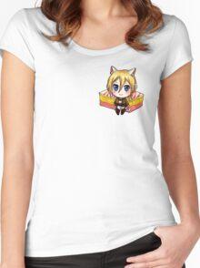 Attack on Titan Sticker Set : Angel Cake Krista Women's Fitted Scoop T-Shirt