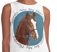 Horses Are My Therapy! T-Shirts & Hoodies Contrast Tank